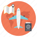 flight adventure, flight for adventure, summer vacation, travel flight, traveling by air icon