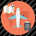 flight adventure, flight for adventure, summer vacation, travel flight, traveling by air icon