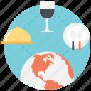 food adventures, international cuisine, taste of travel, tasting the world, travel food icon