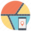 finding way, gps navigator, journey, navigating road, planning travel icon