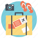 packing for travel, preparing a suitcase, preparing for journey, preparing for travel, vacation plannings icon