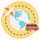 planning journey, traveling around, traveling around the world, traveling methods, ways to travel icon