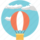 hot air balloon, sightseeing, tourist attraction, traveling, traveling by air icon