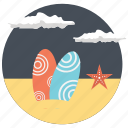 beach vacation, summer adventures, surf boards, surfing at the beach, swimming icon