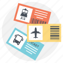 making a journey, planning travel, ticket booking, traveling mediums, traveling tickets icon