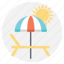 beach vacation, day at beach, summer at the beach, summer vacation, sunny vacation icon