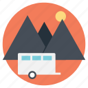 camping, campsite, mountain campsite, near the mountains, outdoor activity icon