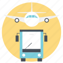 journey, travel by air, travel by bus, traveling, traveling mediums icon