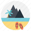 beach location, beach resort, paradise beach location, summer holidays, summer vacation icon