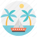 island trip, sea travel, summer vacation, travel to bahamas, trip to bahamas icon