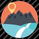 climbing mountains, ecological sites, mountainous sites, travel destination, travel ecology icon