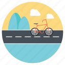 cycling adventures, exercise, extreme sports, outdoor biking, trip icon