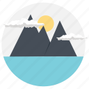 adventure, hiking site, mountain climbing, outdoor activity, traveling site icon