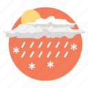 extreme weather, raining, snowing, weather forecast, weather prediction icon
