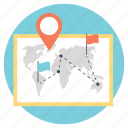journey, navigation, travel map, traveling map, trip icon