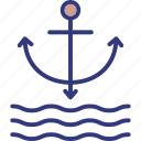anchor, boat anchor, nautical, ship anchor icon