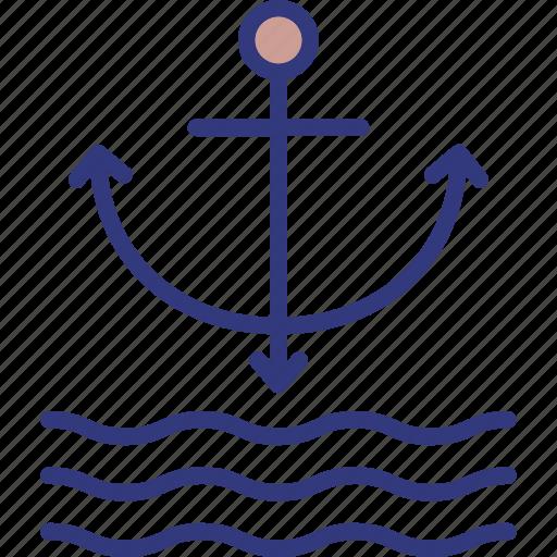 anchor, boat anchor, nautical, ship anchor icon
