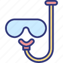 dive mask, scuba mask, snorkel, swim mask icon