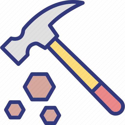 hammer, mining, outdoor, outdoors icon