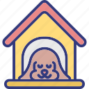 animal house, dog house, pet home, pet house icon