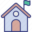 flag, home, house, outdoor icon