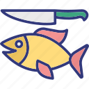 angling, bait, blade, fish icon