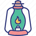 burn, fire, flame, lantern icon
