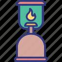 burn, fire, flame, lantern icon