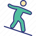 nautic, outdoor, person, recreation icon