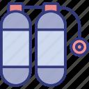 diving, ocean, outdoor, oxygen icon