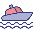 boat, nautic, outdoor, recreation icon