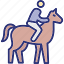 horse, human, outdoor, outdoors icon