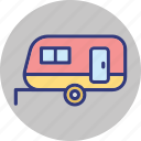 caravan, convoy, living van, transport icon