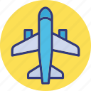 aeroplane, aircraft, airplane, plane icon