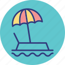 beach, outdoor, parasol, recreation icon