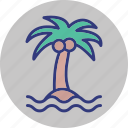 beach, outdoor, palm, recreation icon