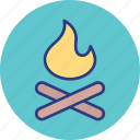 burn, camp, fire, flame icon