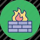 bonfire, camp, fire, outdoor icon
