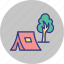 camping, forest, outdoor, recreation icon