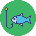 fish, fishing hunting, hunting, rod icon