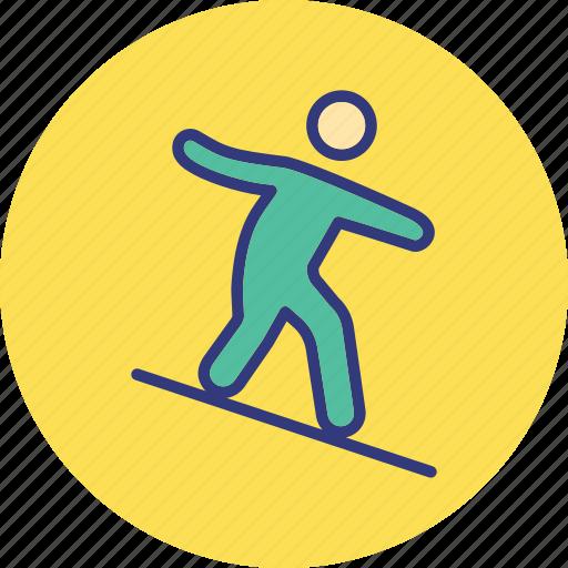 nautic, outdoor, person, recreation icon