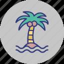 dates, fir tree, palm, pine tree icon