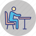 bench, human, outdoor, outdoors icon