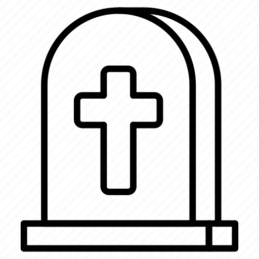 death, grave, graveyard, halloween, rip, scary, tombstone icon
