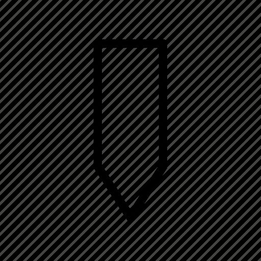 arrow, down, fat icon