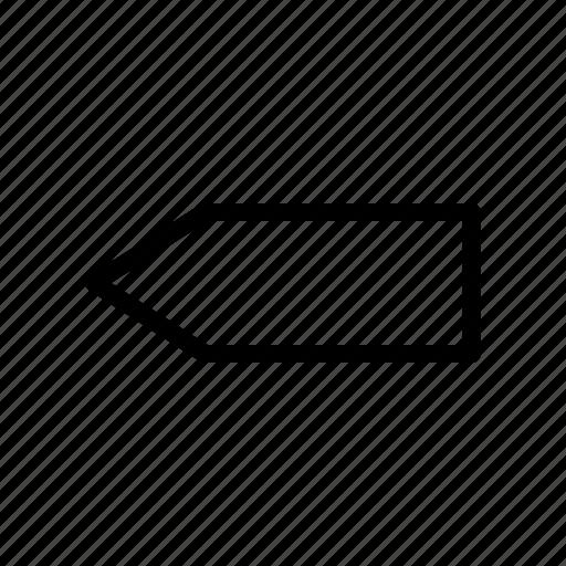 arrow, fat, left icon