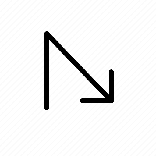 arrow, down, vertical icon