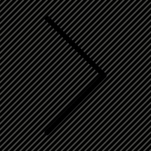 arrow, right, thin icon