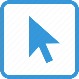 arrow, direction, mouse, pointer, selected icon