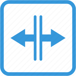 arrow, arrows, direction, expand, open, zoom out icon